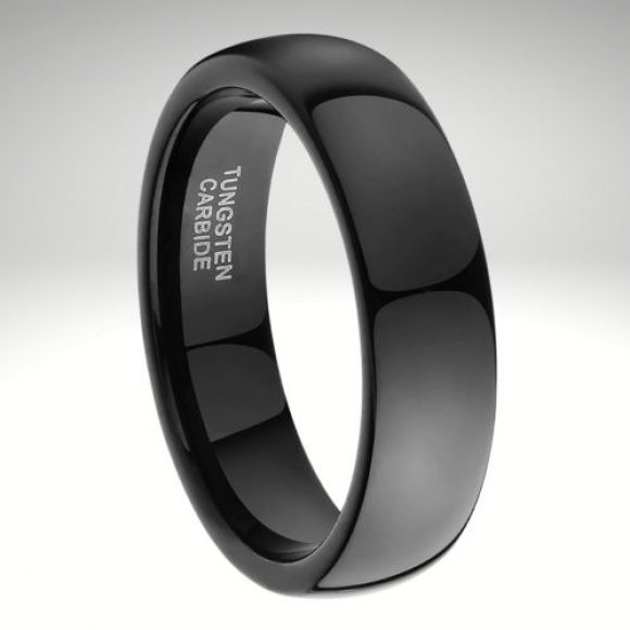 Black Tungsten Carbide Men's Ring