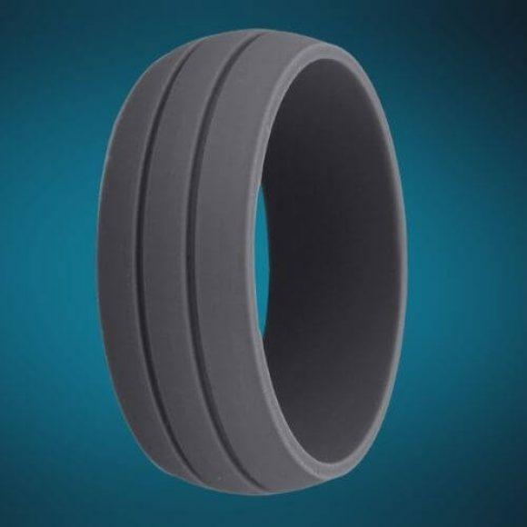 Man's Silicone Ring - Dark Grey