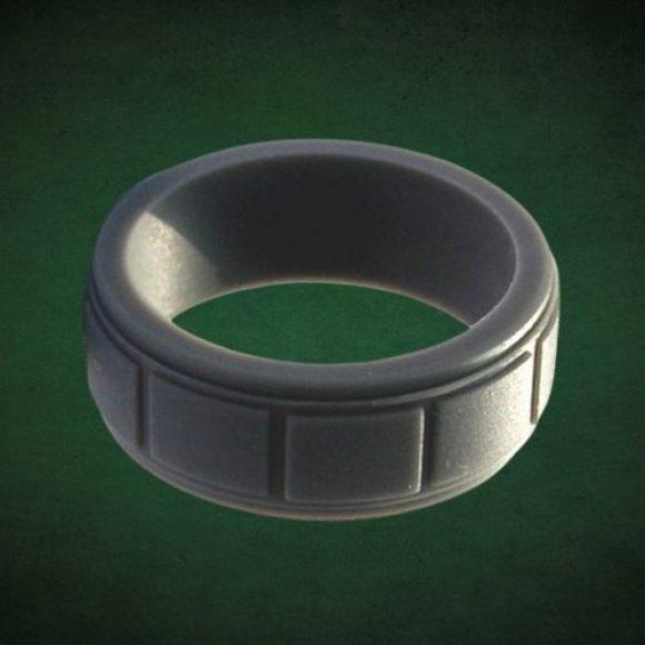 Mens black men silicone ring