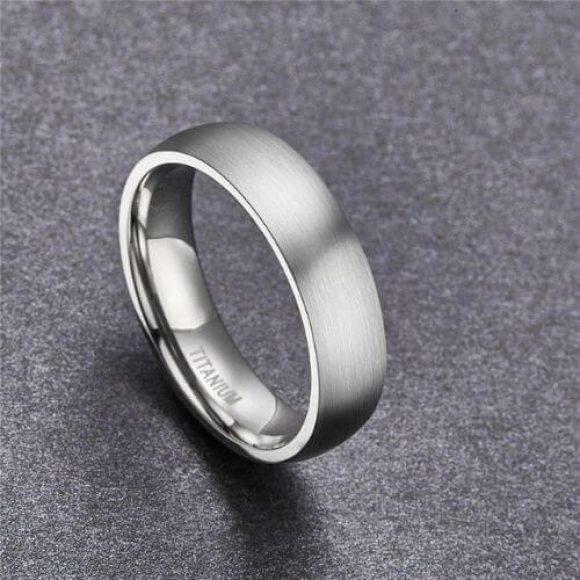 Men's Titanium Ring - Silver